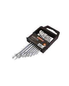 KENDO Set Serie Chiavi Combinate acciaio cromo vanadio da 8 pezzi con supporto 8-19mm