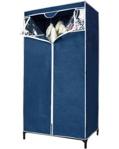 ARMADIO in tnt blu apertura centrale 80x46x156h