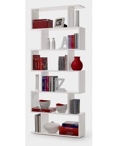 libreria alta - 6 ripiani - bianco lucido - L80 x P 25 x 192H