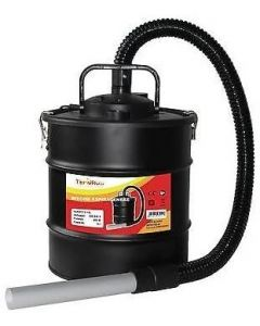 bidone - aspiracenere - 20lt - 1200w - tubo flessibile - tubo acciaio - filtro hepa