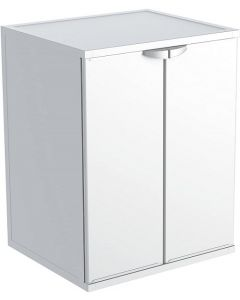 Mobile Coprilavatrice standard in resina bianco cm 68x66x88h