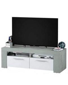 MOBILE TV BIANCO CEMENTO 2 ANTE 2 NICCHIE 120 X 42 X 40H