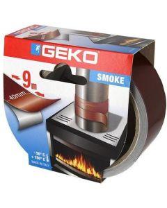 GEKO SMOKE Nastro adesivo alluminio alte temperature marrone 9m x 40mm